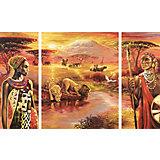 Картина по номерам Schipper Триптих: Килиманджаро, 50х80 см