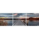 Картина по номерам Schipper Триптих: Восход на озере, 120х40 см
