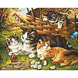 Картина по номерам Schipper Семейство кошачьих, 40х50 см