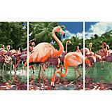 Картина по номерам Schipper Триптих: Фламинго, 50х80 см