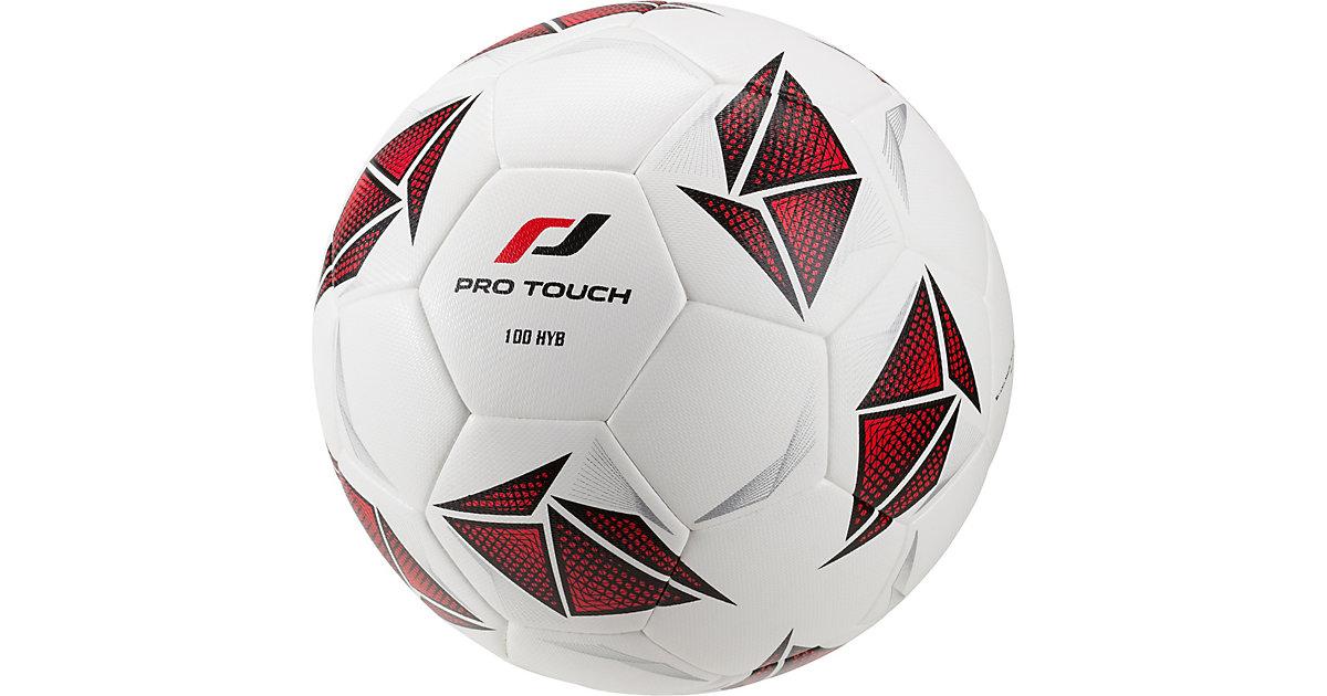 Fußball 100 Hybrid, weiß schwarz/weiß