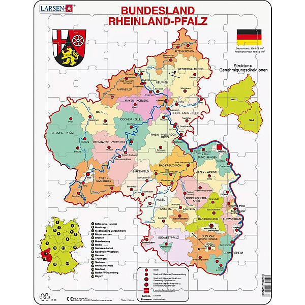 Rahmen Puzzle 70 Teile 36x28 Cm Karte Rheinland Pfalz
