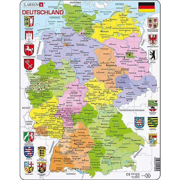 Rahmen Puzzle 70 Teile 36x28 Cm Karte Deutschland Politisch