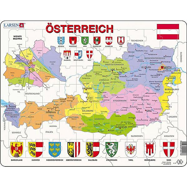 Rahmen Puzzle 70 Teile 36x28 Cm Karte Osterreich Politisch