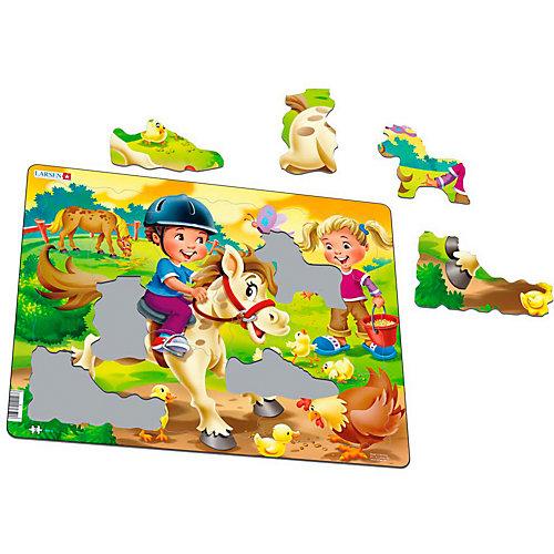 """Пазл Larsen """"Дети на ферме"""" Пони от Larsen"""