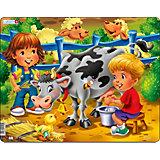 """Пазл Larsen """"Дети на ферме"""" Корова"""