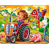 "Пазл Larsen ""Дети на ферме"" Трактор"