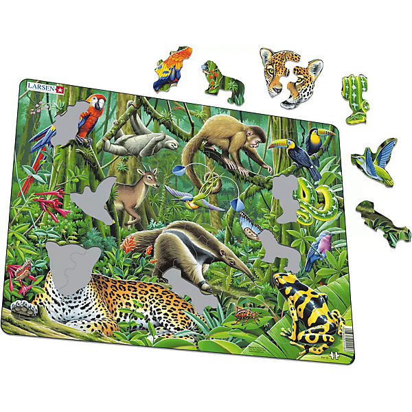 Rahmen-Puzzle, 70 Teile, 36x28 cm, Regenwald, Larsen