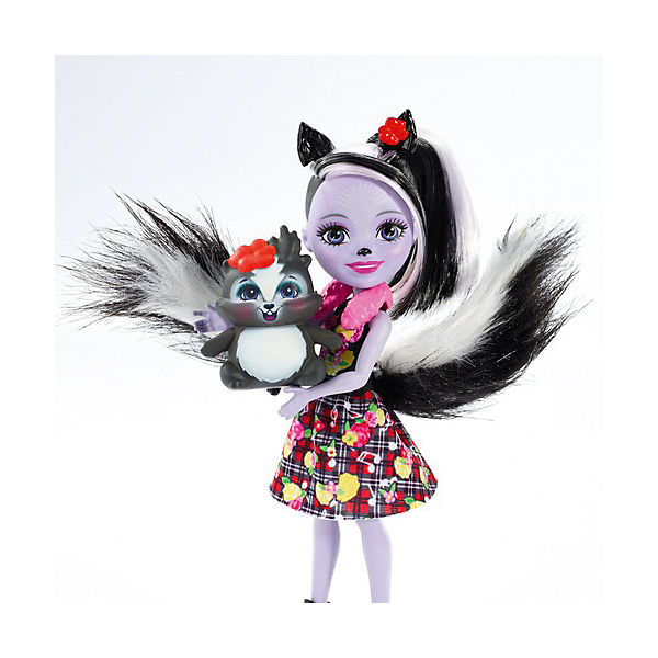 Кукла с любимой зверюшкой Enchantimals, Сейдж Скунси и Кейпер