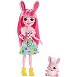 Кукла с любимой зверюшкой Enchantimals, Бри Банни и Твист