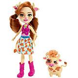 Кукла с любимой зверюшкой Enchantimals, Кейли Кау и Кардл