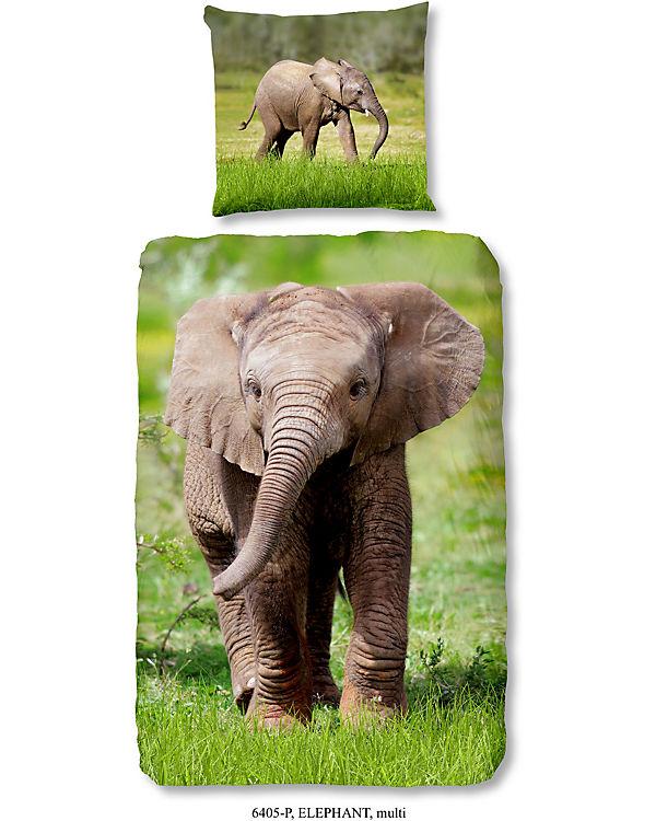 Wende Kinderbettwasche Elefant Renforce 135 X 200 Cm Good Morning Bedlinens