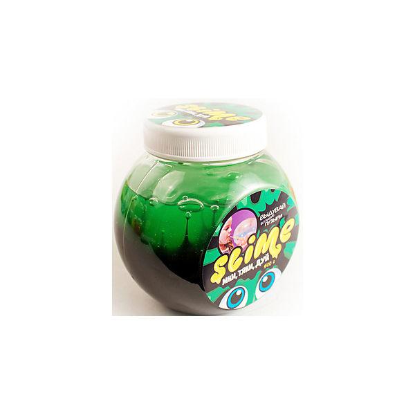 """Лизун """"Волшебный мир"""" Slime Mega Mix, черный и зеленый, 500 г"""