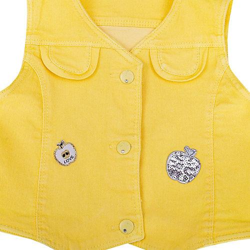 Комплект Birba: лонгслив и жилет - желтый/белый от Birba