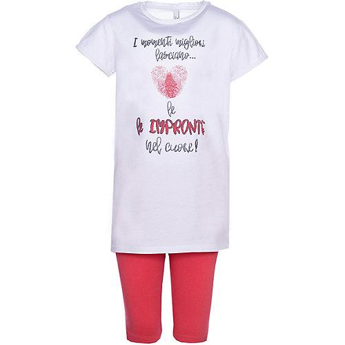 Комплект Trybeyond: футболка и леггинсы - розовый/белый от Trybeyond