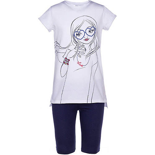 Комплект Trybeyond: футболка и леггинсы - синий/белый от Trybeyond