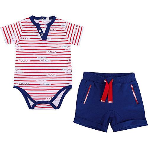 Комплект Birba: песочник и шорты - синий/красный от Birba