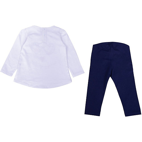 Комплект Birba: лонгслив и леггинсы - синий/белый от Birba