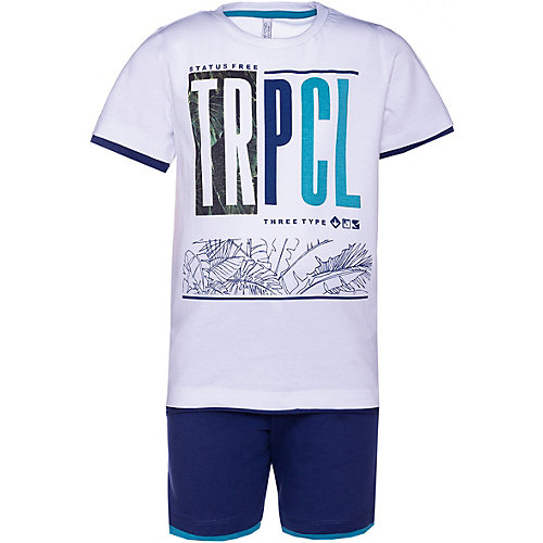 Комплект Trybeyond: футболка и шорты - синий/белый от Trybeyond