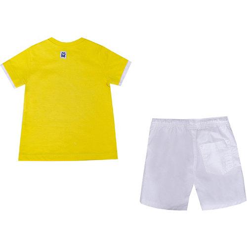 Комплект Birba: футболка и шорты - желтый/белый от Birba