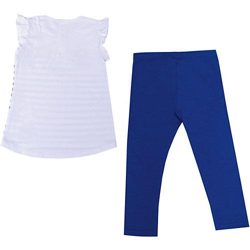 Комплект Birba: топ и леггинсы - синий/белый от Birba
