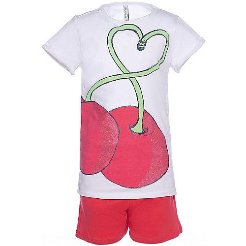 Комплект Trybeyond: футболка и шорты - белый/коралловый от Trybeyond
