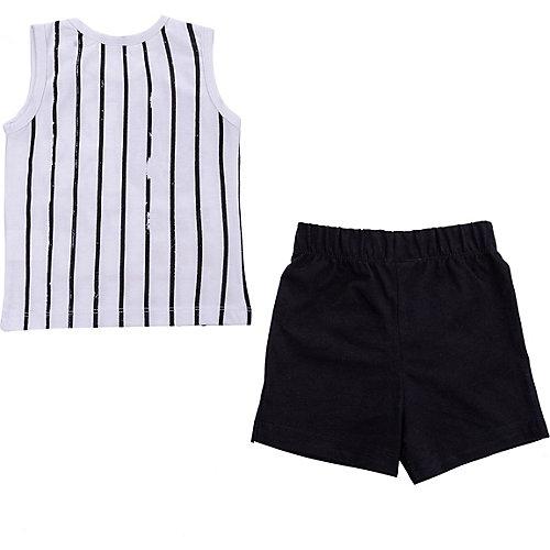 Комплект Birba: майка и шорты - черный/белый от Birba