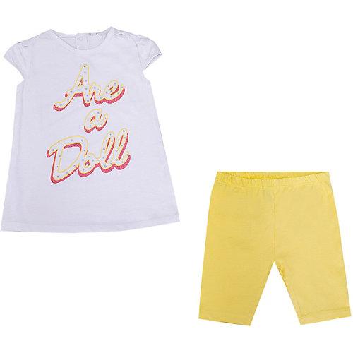 Комплект Birba: футболка и леггинсы - желтый/белый от Birba