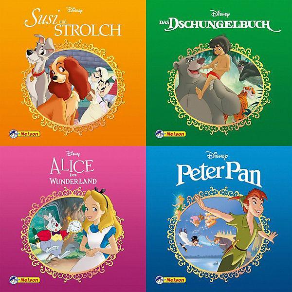 Nelson Maxi Mini Set Disney Klassiker 4 Hefte 4 Hefte Disney