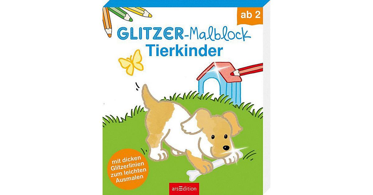 Glitzer-Malblock Tierkinder
