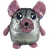 Мягкая игрушка ABtoys Мышь с пайетками, 20 см
