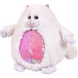 Мягкая игрушка ABtoys Кошка с пайетками, 20 см