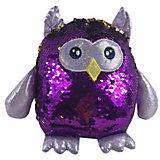 Мягкая игрушка ABtoys Сова с пайетками, 20 см