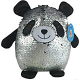 Мягкая игрушка ABtoys Панда с пайетками, 20 см