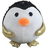 Мягкая игрушка ABtoys Пингвин с пайетками, 18 см