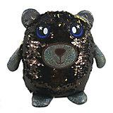 Мягкая игрушка ABtoys Медведь с пайетками, 20 см