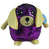 Мягкая игрушка ABtoys Собака с пайетками, 20 см