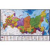 Настольный коврик-подкладка Brauberg для письма, с картой России