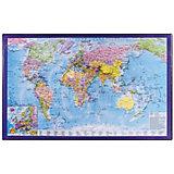 Настольный коврик-подкладка Brauberg для письма, с картой мира