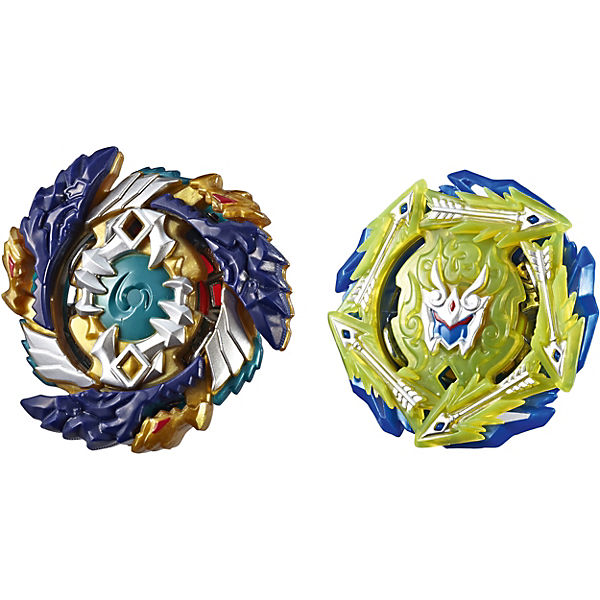 Beyblade Burst SlingShock Dual Packs Fafnir F4 and Rudr R4