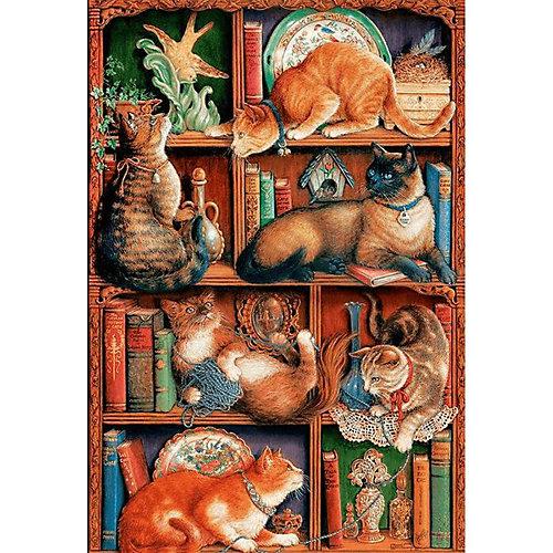 "Пазл Cobble Hill ""Кошки на книжных полках"", 2000 деталей от Cobble Hill"