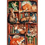 "Пазл Cobble Hill ""Кошки на книжных полках"", 2000 деталей"