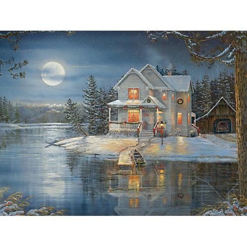 """Пазл Cobble Hill """"Дом у озера"""", 275 деталей от Cobble Hill"""