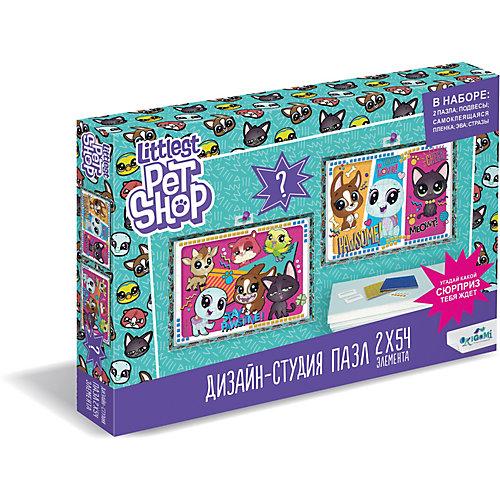 """Набор пазлов 2в1 Littlest Pet Shop """"Дизайн-студия"""" Всегда вместе! с сюрпризом от Origami"""