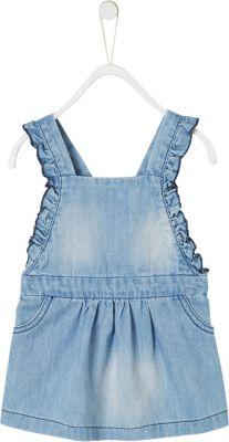 Name It Baby Jeanskleid langarm mit Patches light blue denim Kleid Nitarona