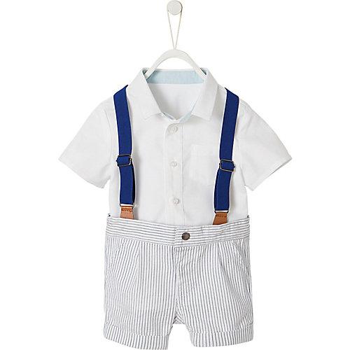 vertbaudet Baby Set aus Langarmhemd und Shorts Gr. 92 Jungen Kleinkinder | 03611652915986