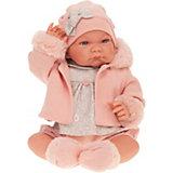 Кукла Munecas Antonio Juan Наталия в розовом, 40 см