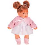 Кукла Munecas Antonio Juan Дели в розовом, озвученная, 27 см
