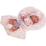 Кукла Munecas Antonio Juan Антония в розовом, 40 см