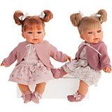 Кукла Munecas Antonio Juan Альма в фиолетовом, озвученная, 37 см